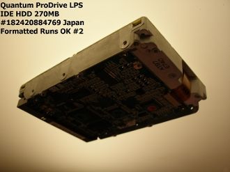 Vintage Quantum ProDrive LPS IDE HDD 270 Megabytes For Sale $100.00, 60 Day Return #187420884769F Japan #2 Formatted Runs OK. See Terms & Conditions